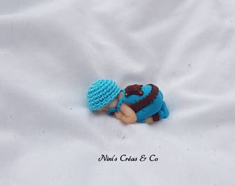 Baby boy in Polymer Clay figurine