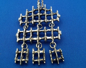 Tapani Vanhatalo silver plated pewter necklace Finland
