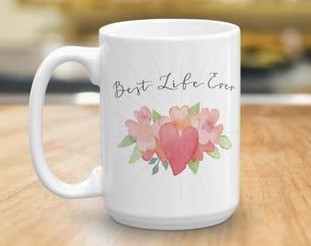 Best Life Ever Coffee Mug, JW Pioneer Gift, Ceramic Coffee Cup, Coffee Lovers Gift, Baptism Gift, Pioneer School Gift, Inspirational Mug