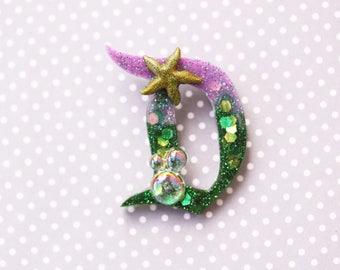 Disney D Brooch  - Classic Disney D Pin - Life is the Bubbles Disney D