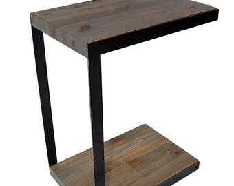 Charming C Table Wood And Metal; Side Table; Perfect Accessory For Any Room; Can