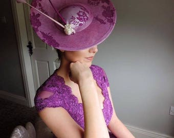 Purple and Cream Hat