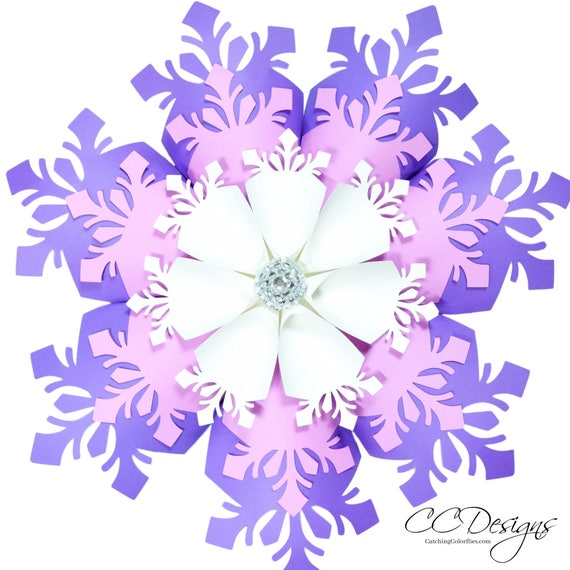 how to make large paper snowflakes