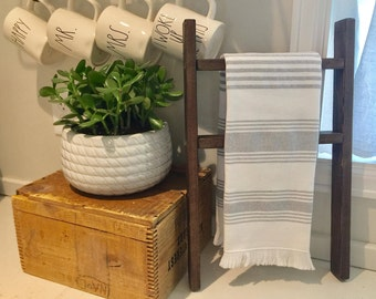 Tea Towel Mini Ladder