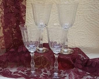 Crystal Goblets Etched