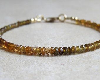 Petro Tourmaline & Gold Bracelet
