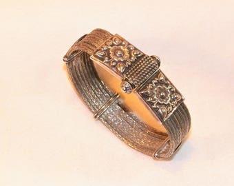 Antique 44.5g Sterling Silver Rare Hand Made Bracelet, 925 Mayan Tribal Bracelet? Spainard Unique Bracelet? Vintage Native Primitive.Awesome
