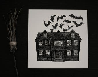 Haunted house - Print
