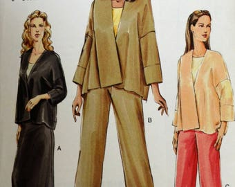 Uncut 2004 Vogue Sewing Pattern 7916; Size 14-16-18;Misses' Jacket, Skirt, and Pants