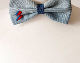 David Bowie Lighting Bolt Bow Tie and Headband, Mens Bowties, Wedding bow tie, bow tie for men, mens tie