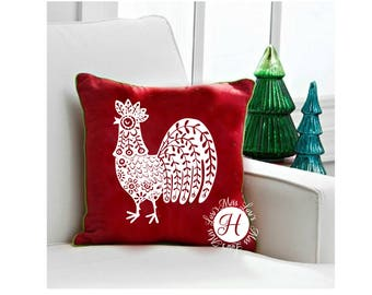 Folk art Rooster 5 decal   stencil SVG  dfx  cut file  t-shirts  animals scrapbook vinyl decal wood sign cricut cameo Commercial use