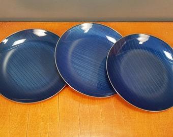 Cathrineholm Norway - Three 'Cathedral' plates - 'Strek' pattern - Grete Prytz Kittelsen - 1960s (V124A)
