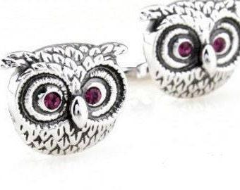 Small Owl Cufflink -B162