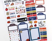 Autumn Bucket List and Holidays Planner Stickers