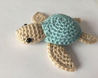 Crochet Sea Turtle, Sea Turtle Plush, Amigurumi Sea Turtle, Amigurumi Turtle, Crochet Turtle, Turtle Plush, Handmade Stuffed Animal