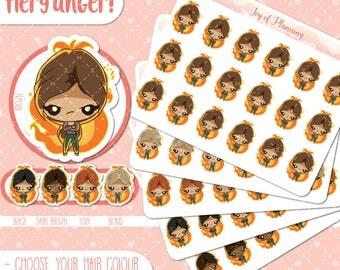 Upset planner stickers, angry stickers, mad stickers, bad day stickers, bad mood stickers, pms stickers, erin condren JOP001