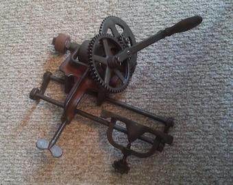 Antique Bench Grinder Sickle Sharpener Vintage Hand Crank Sharpening Stone