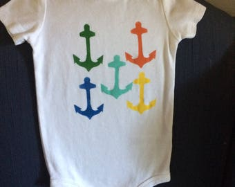 Anchor Onesie with bright colors sz 18 months
