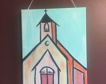 Country Church Canvas