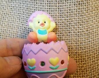 Vintage Blinking Easter Egg Pin, Easter Egg Pin
