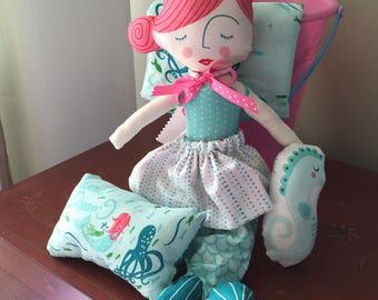 Mermaid doll play set