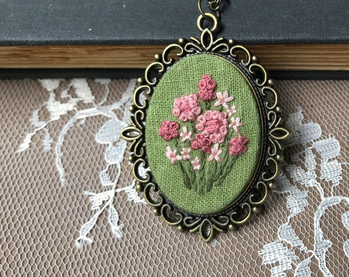 Pink Wildflower Pendant