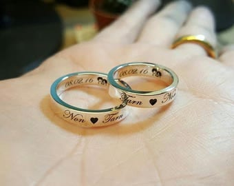 pinterest images engraved on awesome of couples best name rings sterling wedding pictures for with names silver