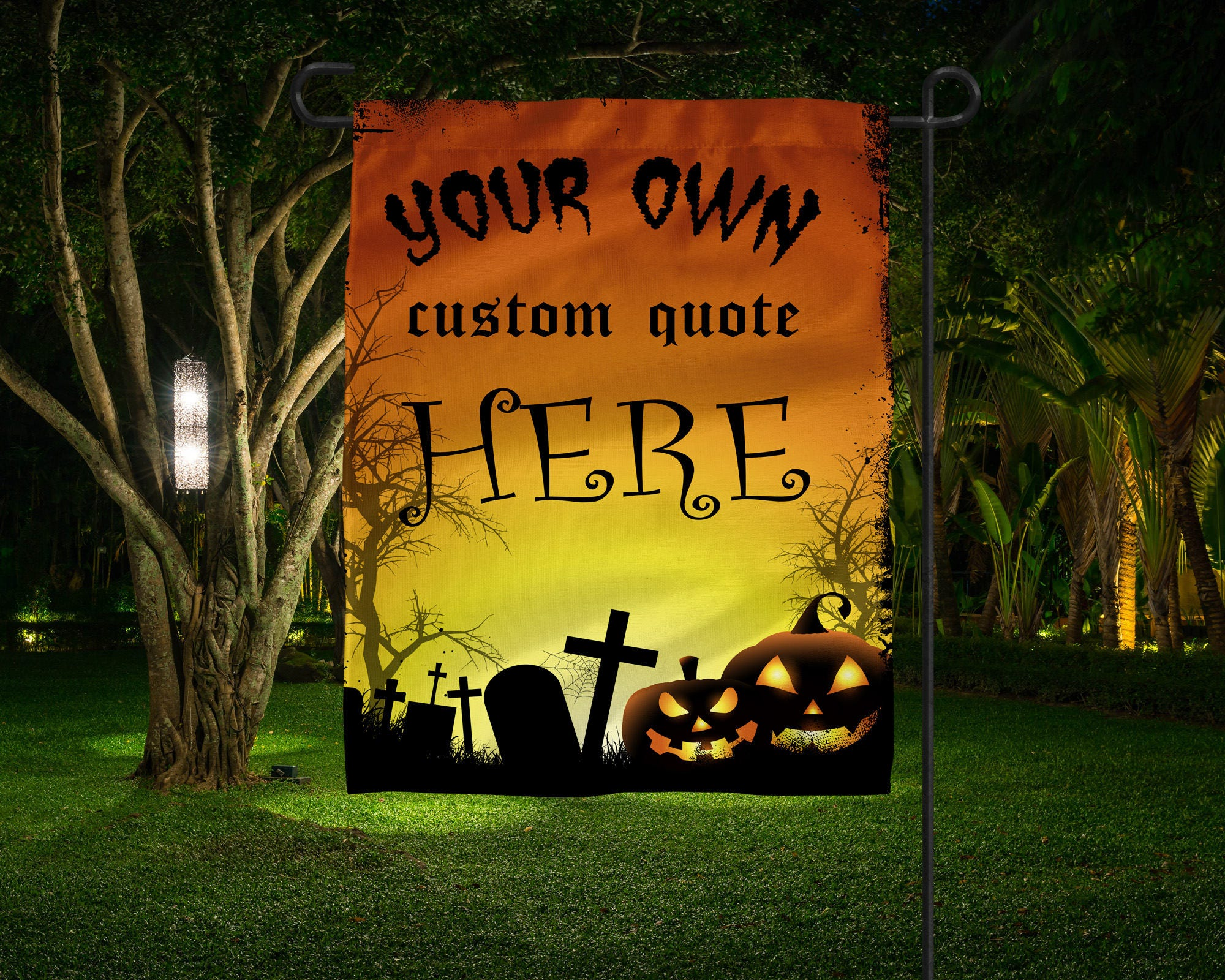 your own custom quote flag personalized halloween flag