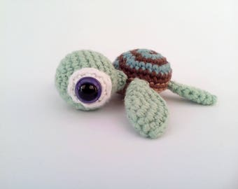 Crochet Sea Turtle Brown and Blue Sealife Amigurumi