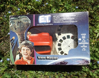 ET Vintage ViewMaster Collectible, 80s E.T. Movie Merch, Steven Speilberg, ET alien view master, Vintage Viewmaster Toy, 80s toys, 80s toy