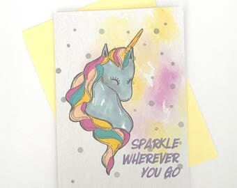 Sparkle Wherever You Go - A6 blank notecards, Greeting cards, Stationary, Inspiration/Encouragement, Pastel colors, Gifts for her