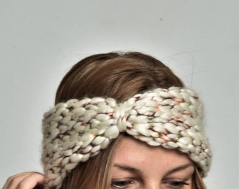 Knit headband knit ear warmer chunky headband turban headband chunky ear warmer