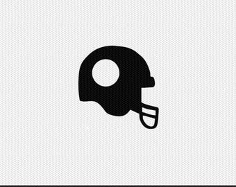 football helmet monogram frame svg dxf file instant download silhouette cameo cricut clip art commercial use