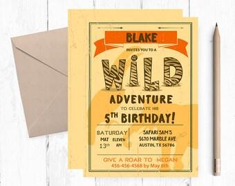 Safari Birthday Invitation, Safari Birthday, Safari invitation, Safari invitations, Safari Party,  Safari birthday invitations, Safari,