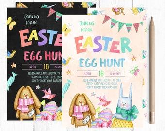 Easter Egg Hunt Invitations, Easter Egg Hunt Invites, Spring Invitations, Easter Invitation, Easter Invitations, Easter Brunch Invitation,