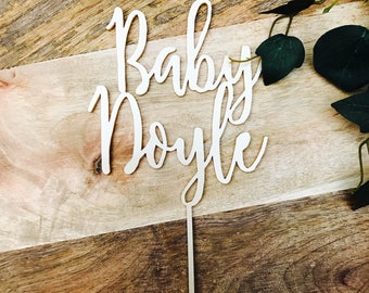 Baby Shower Personalised Cake Topper Cake Decoration Cake Toppers Toppers Baby Shower Cakes Personalised topper Baby shower cake SHL