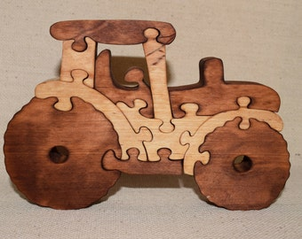 Wooden tractor. Wooden Puzzles. Wood Puzzle. Animal Puzzle Zoo Animal Kids Puzzle Wooden Toy Wood Toy Baby Puzzle Baby Shower Gift