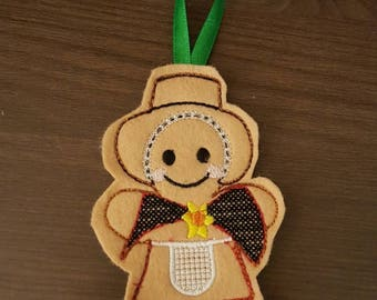 Welsh Girl Gingerbread Decoration