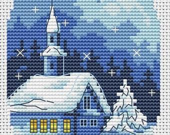 Christmas Cards Cross Stitch Pattern Christmas Card Set Cross Stitch Chart PDF Chart Downloadable PDF Instant Download