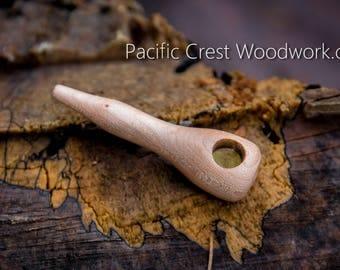 Blonde, Curly Maple, Pipe, wood smoking pipe, unique pipe, cool pipe, wood pipe, small wood pipe, pipe, pocket pipe, stash pipe