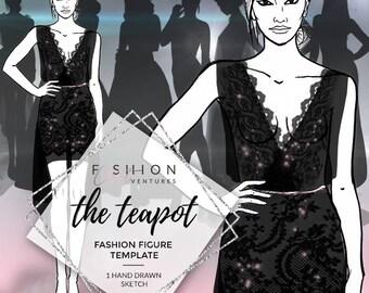 The Teapot | Fashion Template, Fashion Illustration, Croquis, Fashion drawing