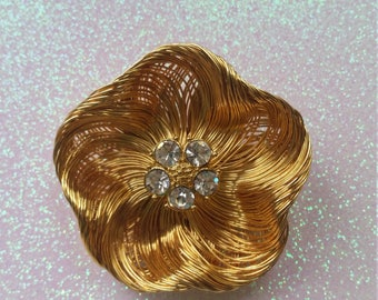 Vintage Gold Monet Brooch Pin