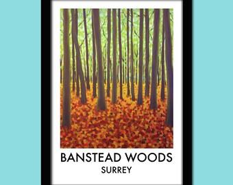Banstead Woods Travel Poster