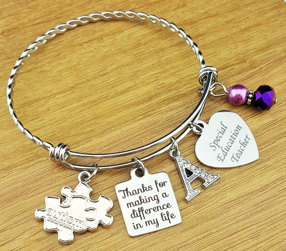 Special Education Teacher Gifts Special Ed Teacher Gifts Autism Teacher Gift Teacher Appreciation Gift Teacher Gifts Teacher Bracelet
