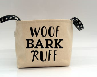 dog storage, dog bag, dog toy basket, dog toy storage, dog toy bin, personalized dog bin, pet storage, dog basket custom, dog bag, pets