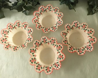 1940's Beautiful Christmas Nut or Candy Cups