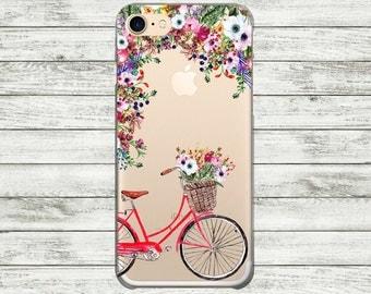 iPhone 7 Plus case bike iPhone 7 bicycle case iPhone 6, 6s transparent case, iPhone 6 plus case, iPhone 5, 5s case, iPhone SE case.
