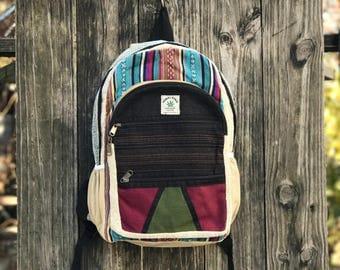 Premium Pure Hemp Handmade backpack, Himalayan Trube pack