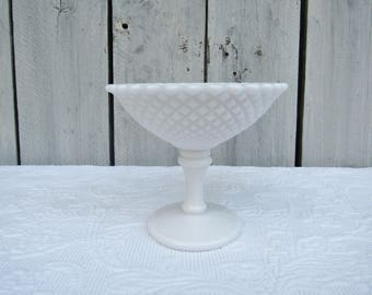 Milk Glass Compote Etsy