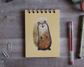 NOTEPAD. A6 Cute Squirrel Spiral Notepad. Soft 300 gsm Card Cover. 120 blank pages. Matte lamination pleasant to the touch.